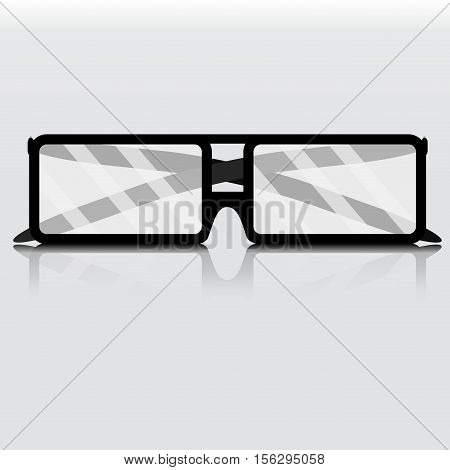 Glasses business isolated. Eye glasses isolated reading glasses isolated. Vector illustration