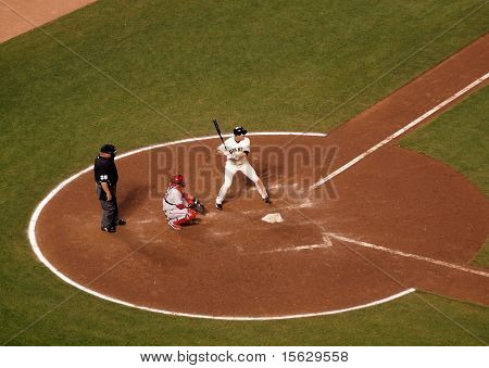 Giants Batter Stands In The Batters Box During At Bat
