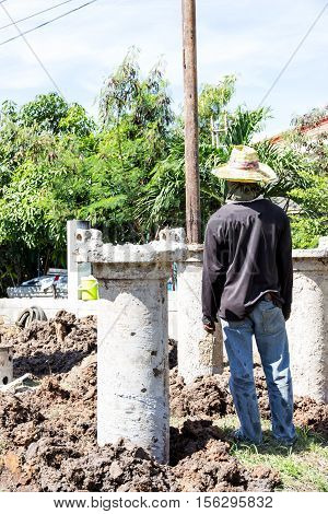 Construction Pile Drilling