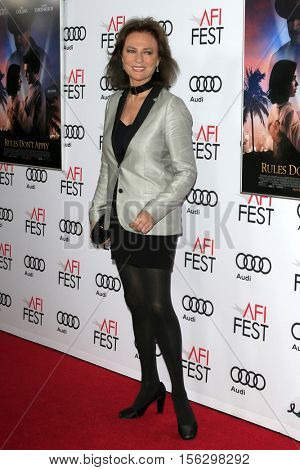 LOS ANGELES - NOV 10:  Jacqueline Bisset at the AFI FEST 2016 - Opening Night - Premiere Of 20th Century Fox's 'Rules Don't Apply' at TCL Chinese Theater on November 10, 2016 in Los Angeles, CA