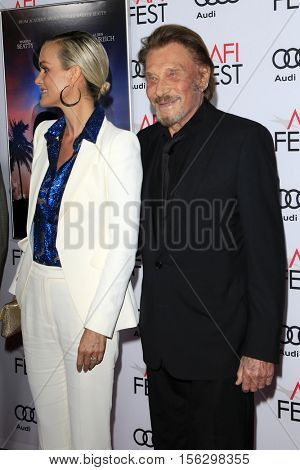 LOS ANGELES - NOV 10:  Laeticia Hallyday, Johnny Hallyday at the AFI FEST 2016 - Opening Night - Premiere Of 'Rules Don't Apply' at TCL Chinese Theater on November 10, 2016 in Los Angeles, CA