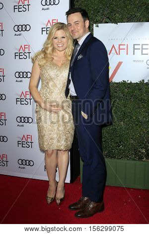 LOS ANGELES - NOV 10:  Megan Hilty, Brian Gallagher at the AFI FEST 2016 - Opening Night - Premiere Of 'Rules Don't Apply' at TCL Chinese Theater on November 10, 2016 in Los Angeles, CA