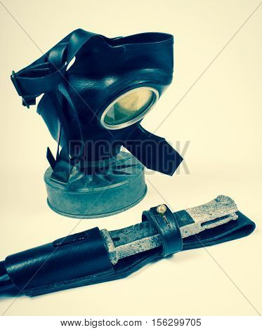 Vintage German Civilian Gas Mask. Wwii.