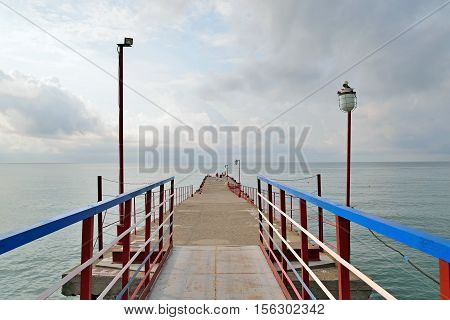 The Sea View From The Main Pier Sudak