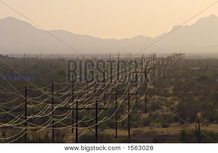 Dusty Power Lines
