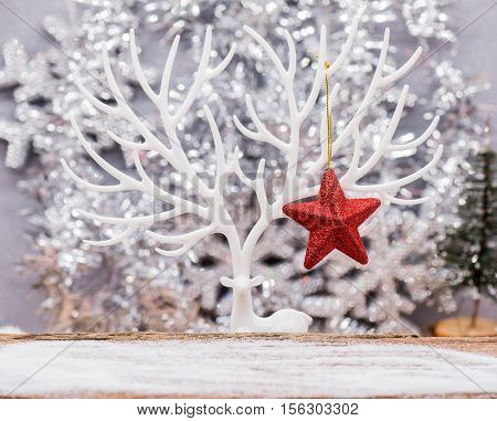 Merry Christmas and Happy New Year Concept and idea for decoration