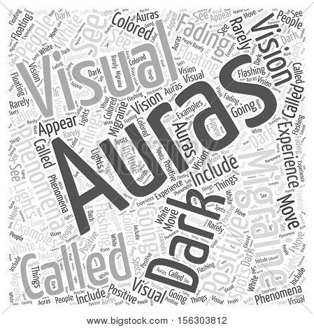 Migraine Auras word cloud concept text background