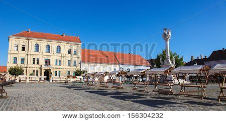 Holy Trinity Square In Osijek, Slavonia, Croatia