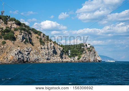 Southern coast of Crimea view from the sea