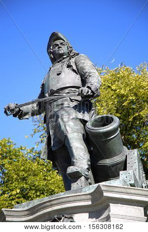statue of Admiral Peter Tordenskjold in Oslo Norway