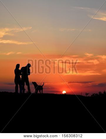 man's best friend plus a lovely sunset