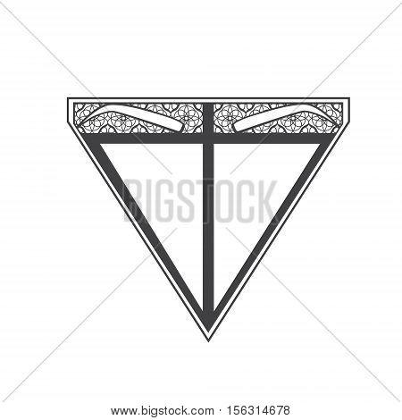 Illustration of Eyebrow Microblading Logo Sign Over White