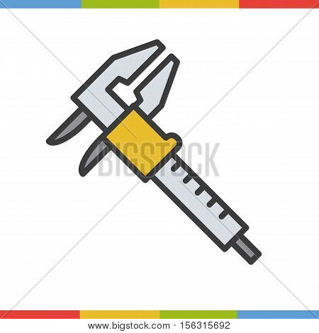 Caliper color icon. Isolated vector illustration on white background
