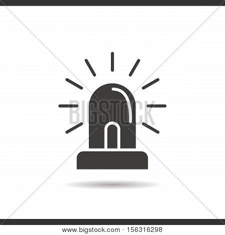 Flasher icon. Drop shadow silhouette symbol. Negative space. Vector isolated illustration