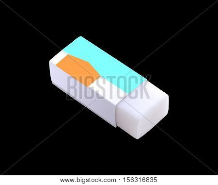Eraser with clipping path on black background.
