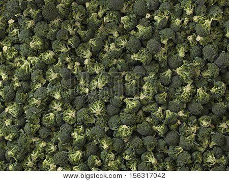 closeup of green vegetables: cut broccoli. Broccoli texture closeup for any ideas. Fresh vegetables concept.