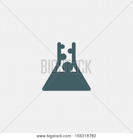 laboratory equipment icon vector isolated on white background