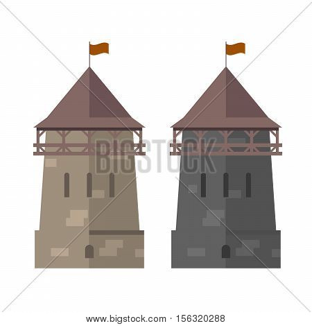 Medieval tower of fortified wall - stronghold