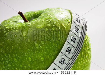Green Apple As Concept Of Healthy Diet
