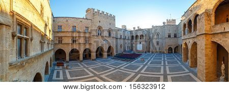 The Palace of the Grand Master the Knights Rhodes is a medieval castle in the city