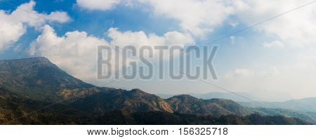 panorama landscape of mountain look big and ultra wide