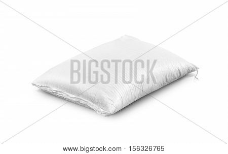 rice sack sand bag agriculture product isolated on white background