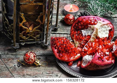 Arabic Candle Holder And Pomegranate