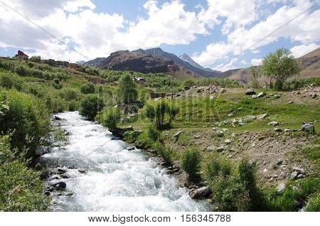 Torrent between Sonamarg and Kargil in Ladakh, India