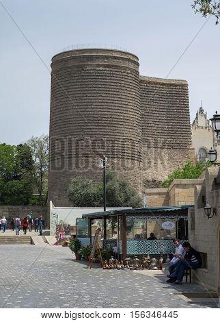 The Maiden Tower, Baku, Azerbaijan. Also Known As Giz Galasi. Baku, Azerbaijan