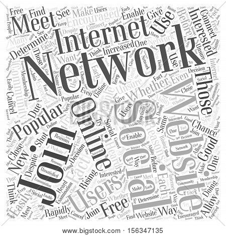 Should You Join a Social Networking Website word cloud concept