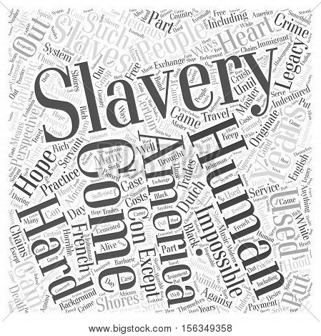 Slavery word cloud concept text background vector