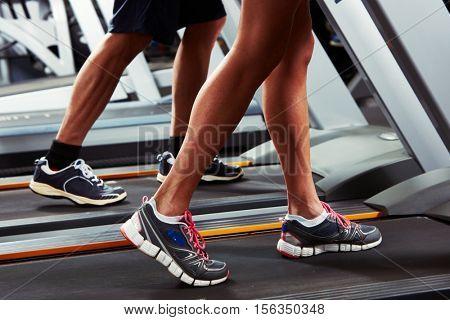 Legs on treadmill