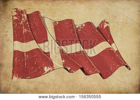 Denmark Grunge Flag Textured Background