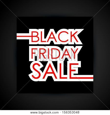 Black friday sale inscription template. Design for sale, discount, cover, banner, brochure or flyer. Vector illustration