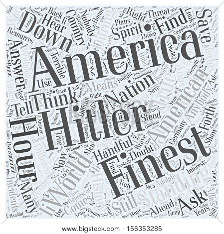 Standing Down Hitler word cloud concept text background