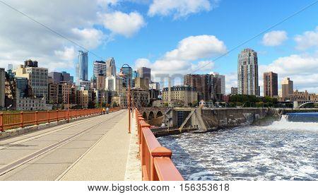 Downtown of Minneapolis city. Minnesota. United States
