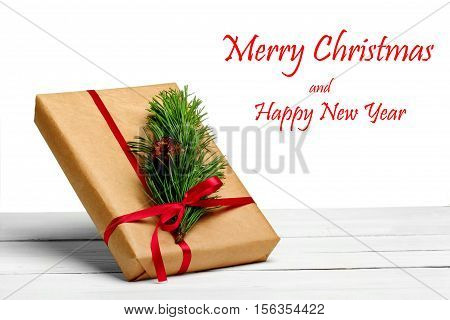 Christmas Card. Gift Boxes.white Background