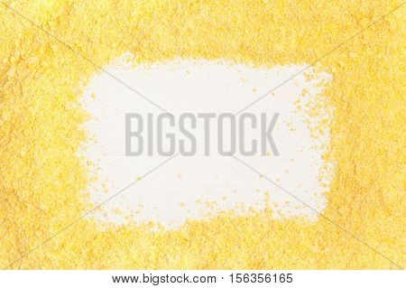 Corn Couscous Frame isolated on white background. Cuscus