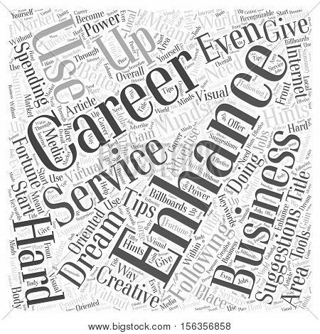 Suggestions To Enhance Your Career word cloud concept
