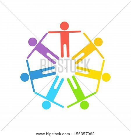 Gay pride color logo. Flat vector cartoon Gay pride illustration. Objects isolated on a white background.