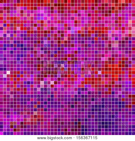 abstract vector square pixel mosaic background- purple