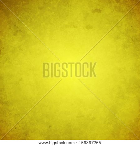 abstract vector bright grunge background - yellow with brown corners