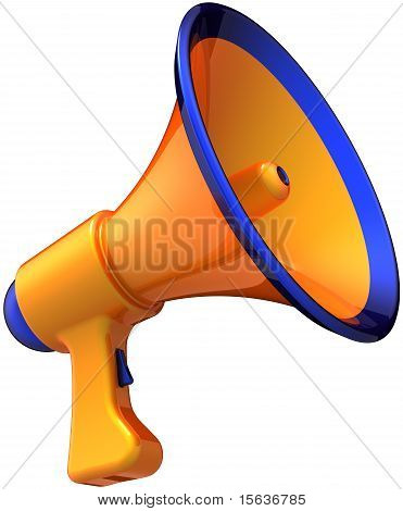 Orange megaphone leadership broadcast