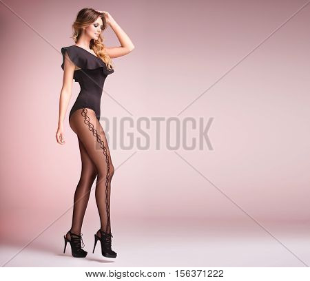 Beautiful Girl With Long Legs.