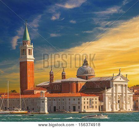 Basilica San Giorgio Maggiore is a 16th-century benedictine church on the island of the same name in Venice Italy
