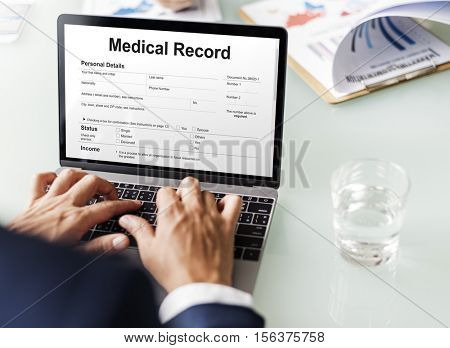 Medical Report Record Form History Patient Concept