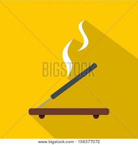 Incense stick icon. Flat illustration of incense stick vector icon for web design