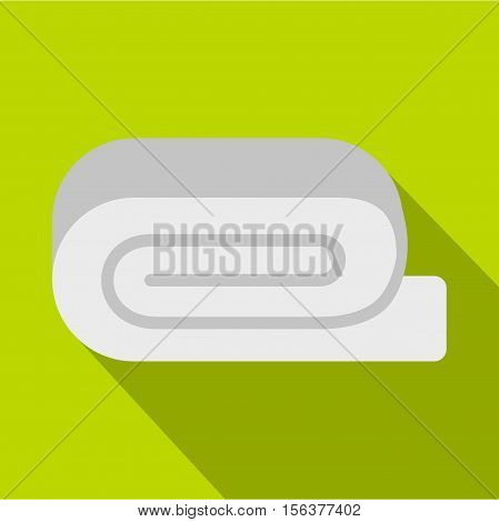 Spa towel icon. Flat illustration of towel vector icon for web design