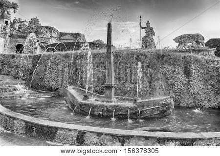 The Fountain Of Rometta, Tivoli, Villa D'este, Italy