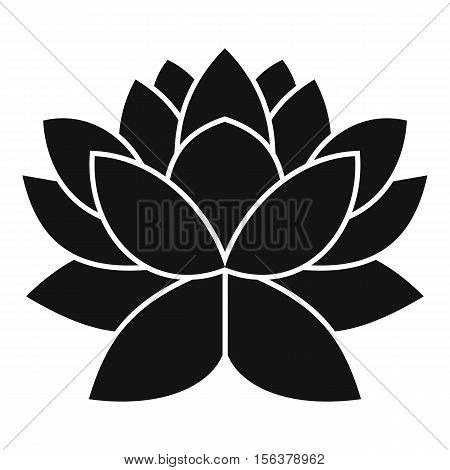 Lotus flower icon. Simple illustration of lotus flower vector icon for web design
